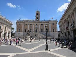 Das römische Kapitol, Sitz der Stadtverwaltung.