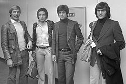 Gianni Rivera, zweiter von rechts. Hier mit Kollegen in den 70er Jahren.